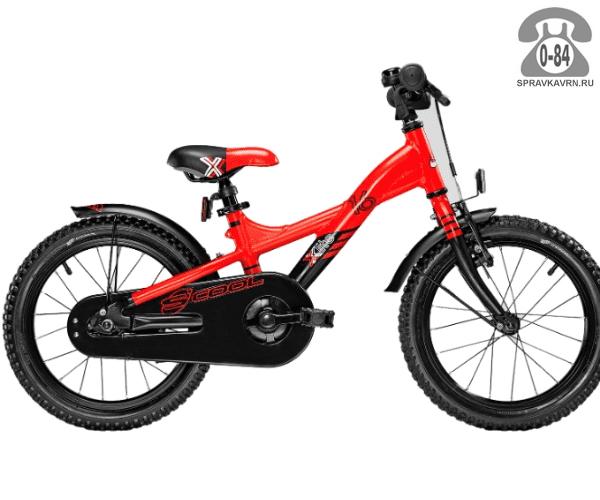 Велосипед Скул (Scool) XXlite 16 alloy (2017), красный