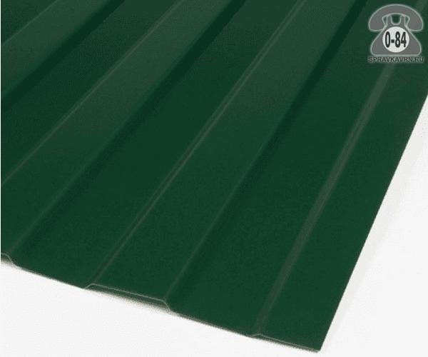 Профнастил С8 зелёный мох  1200x0.7 мм полимерное