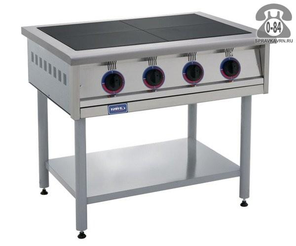 Электрическая промышленная плита без духового шкафа