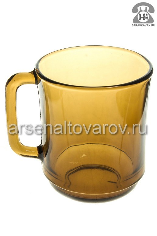 Кружка Мунити дымка стекло 0.31 л