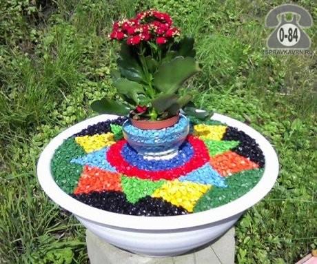 Щебень СтройБаза (Склад тротуарной плитки) гранитный 5 мм 20 мм черный 15 кг мешок декоративный