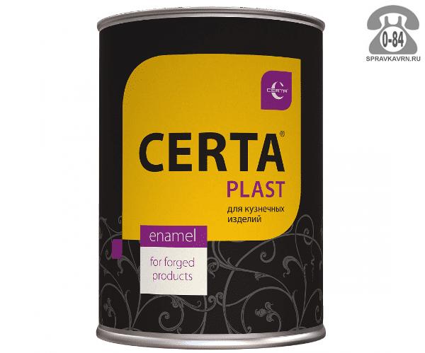Краска Церта (Certa) Пласт 1 кг матовая чёрная
