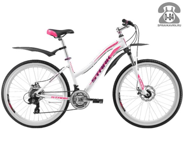 """Велосипед Старк (Stark) Luna 26.2 D (2017), рама 16.5"""" размер рамы 16.5"""" белый"""