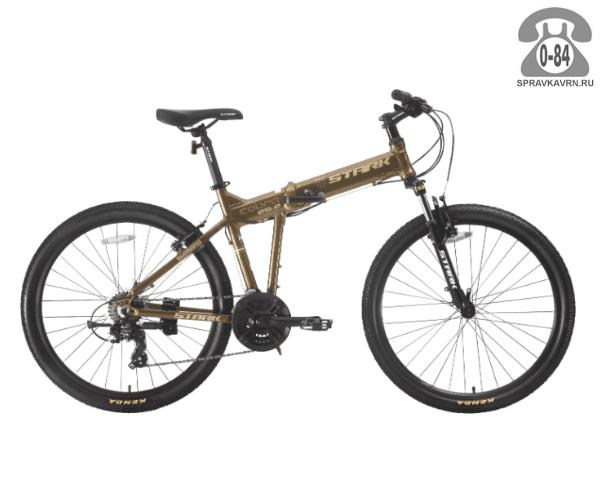 "Велосипед Старк (Stark) Cobra 26.2 V (2017), рама 20"" размер рамы 20"" коричневый"