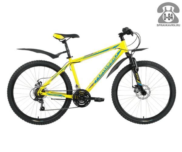 """Велосипед Форвард (Forward) Sporting 2.0 disc (2017) размер рамы 17.5"""" желтый"""