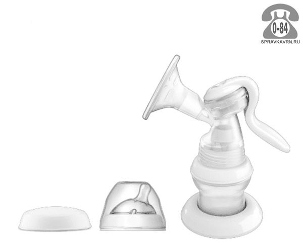 Молокоотсос Чикко (Chicco) ручной с бутылочкой Natural Feeling в комплекте 5740000000
