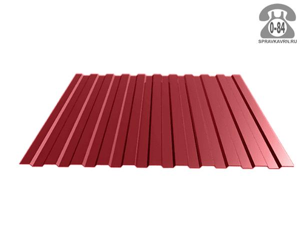 Профнастил С8 полимерное винно-красный 1200x0.4x2000 мм