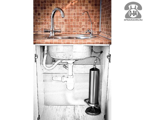 Фильтр для очистки воды Аква Фильтр Навсегда система очистки воды (под мойку) сорбент БАКС-001 12 л 1000 л/час универсальный (для холодной и горячей воды) Россия