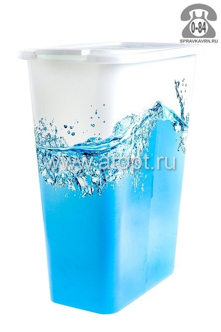 Корзина для белья Пластик Центр (Plastic Centre) Natural Style, цвет венге