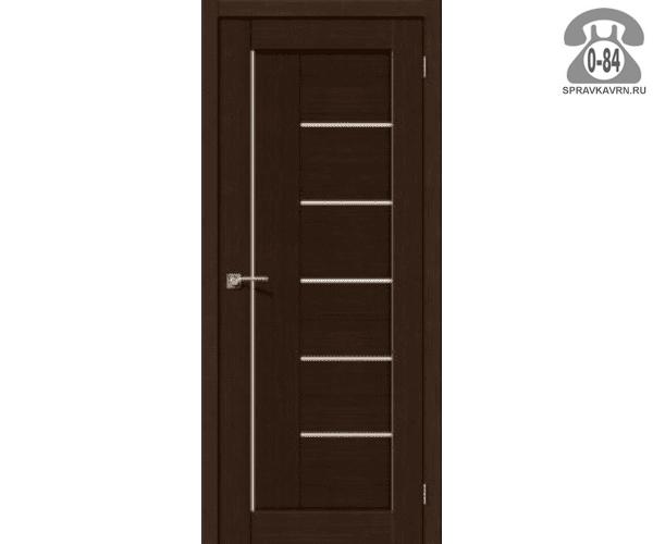 Межкомнатная деревянная дверь ЭльПорта, фабрика (el PORTA) Порта-29 Magic Fog остеклённая 70см, цвет: бьянко вералинга (bianco veralinga)