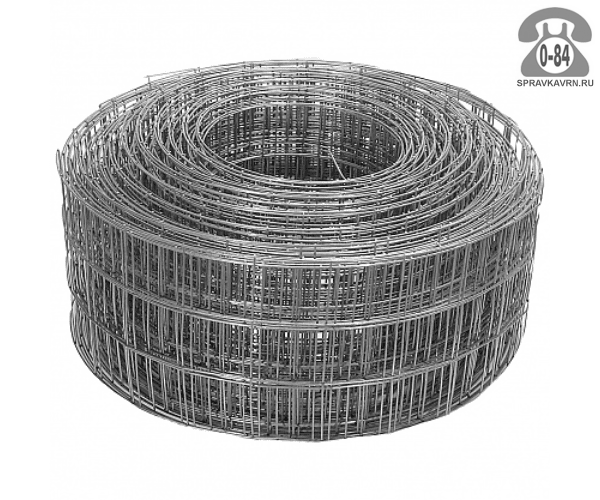 Строительная сетка диаметр 1.6мм  ячейка 50x50мм ширина 0.15м