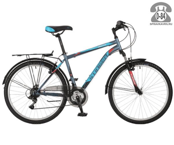 "Велосипед Стингер (Stinger) Traffic 26 (2017) размер рамы 20.5"" серый"