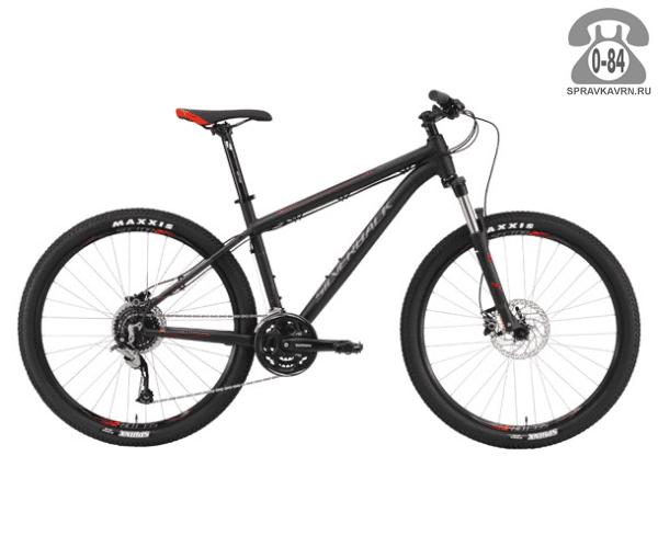 """Велосипед Сильвербэк (Silverback) SLADE 4 (2016) размер рамы 20.5"""" черный"""