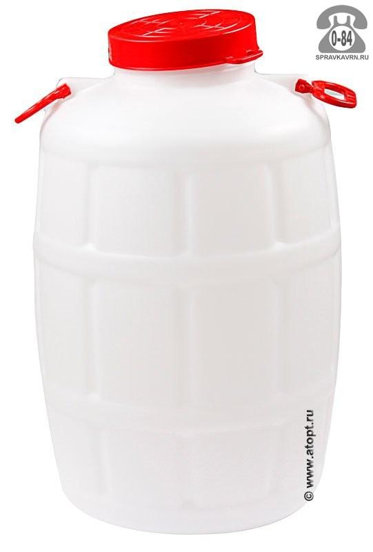 бочка пластмассовая  75 л для пищевых с навесными ручками (М1008) (Башкирия)