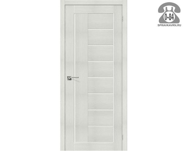 Межкомнатная деревянная дверь ЭльПорта, фабрика (el PORTA) Порта-29 Magic Fog остеклённая 90 см бьянко вералинга (bianco veralinga)