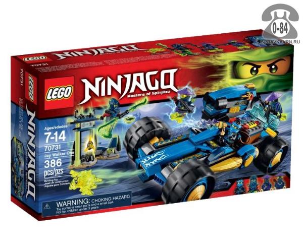 Конструктор Лего (Lego) Ninjago 70731 Шагоход Джея, количество элементов: 386