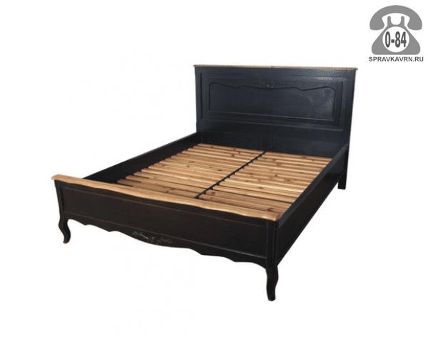 Кровать Чёрный сапфир 2000x1800x1200 мм