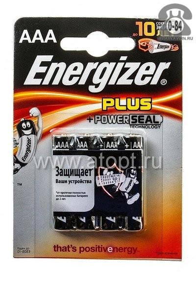 Батарейка Энерджайзер (Energizer) алкалиновая ААА (LR03, R03) 1.5 В блистер 4 шт. Соединенные Штаты Америки (США)