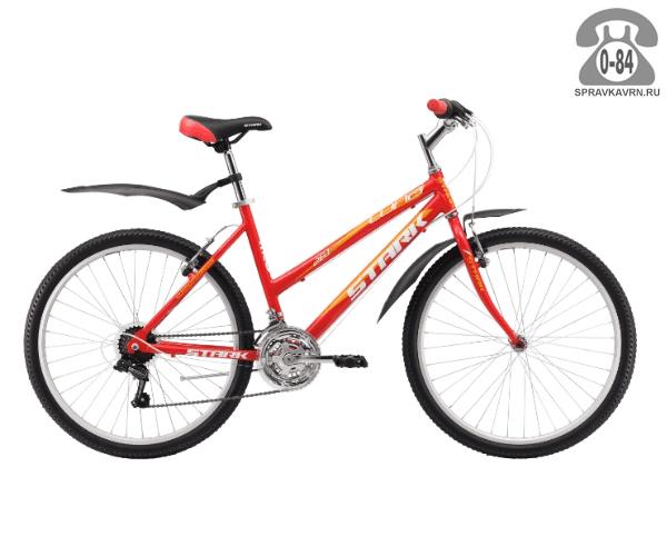 """Велосипед Старк (Stark) Luna 26.1 RV (2017), рама 18.5"""" размер рамы 18.5"""" красный"""