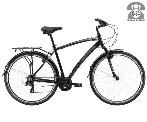 """Велосипед Старк (Stark) Terros 28.1 V (2017), рама 20.5"""" размер рамы 20.5"""" черный"""