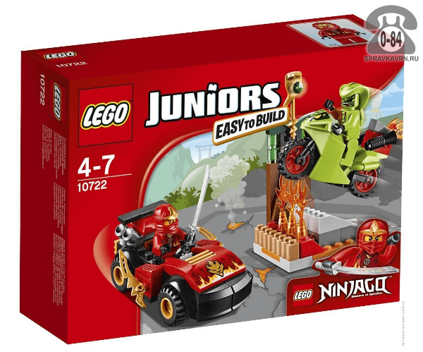 Конструктор Лего (Lego) Juniors 10722 Схватка со змеями, количество элементов: 92