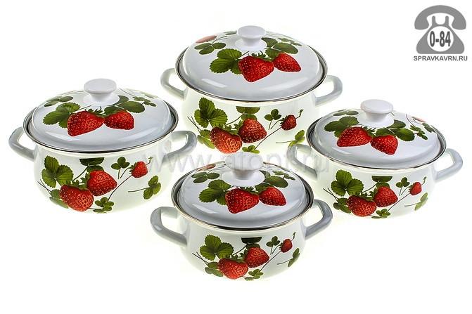 Кастрюля КМК Летняя ягода-1 (1,5 л + 2 л + 3 л + 4 л)