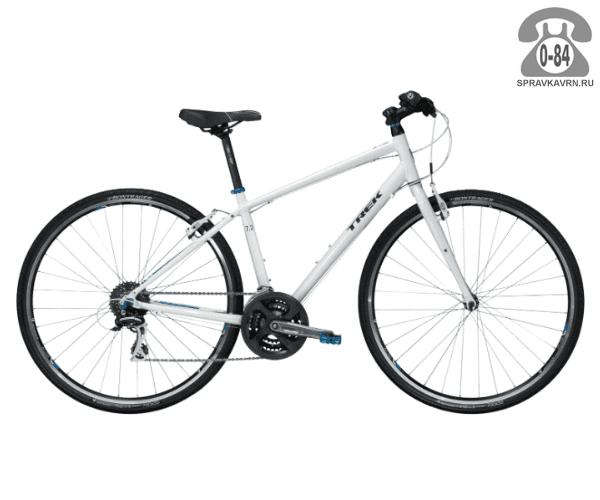 """Велосипед Трек (Trek) 7.2 FX WSD (2016), рама 15.5"""" размер рамы 15.5"""" белый"""
