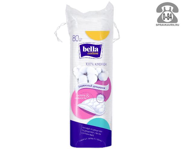 Ватные диски Белла (Bella) хлопок 80 шт. Польша