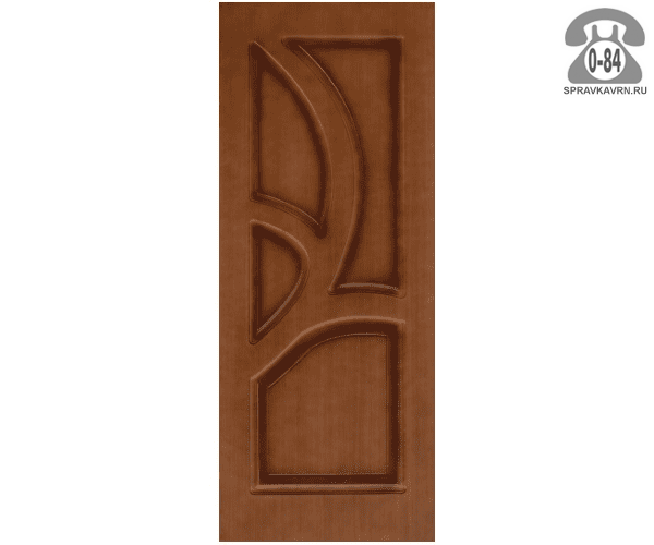 Межкомнатная деревянная дверь Левша, фабрика Грация глухая (без стекла) 90 см орех