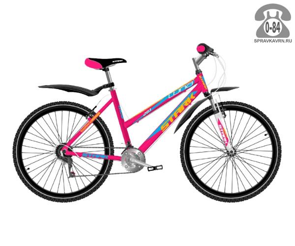 """Велосипед Старк (Stark) Luna 26.1 V (2017), рама 16.5"""" размер рамы 16.5"""" розовый"""