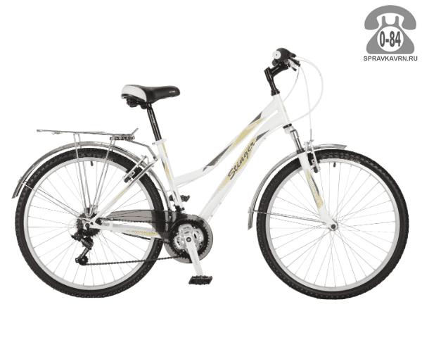 "Велосипед Стингер (Stinger) Victoria 26"" (2017), рама 17.5"" размер рамы 17.5"" белый"