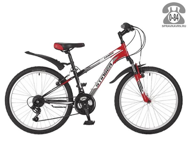 Велосипед Стингер (Stinger) Caiman 24 (2017), красный