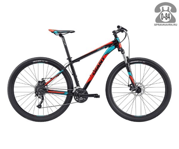 """Велосипед Джайнт (Giant) Revel 29er 2 (2017), рама 18.5"""" размер рамы 18.5"""" черный"""