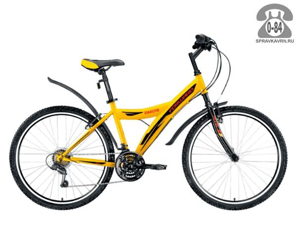 "Велосипед Форвард (Forward) Dakota 26 1.0 (2017) размер рамы 15.5"" желтый"