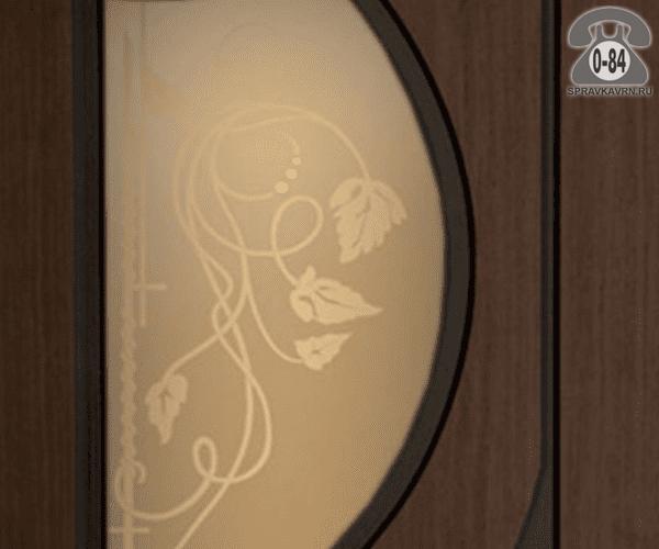 Листовое стекло Левша, фабрика Инь-Янь для правой двери ПО-40 бронзовое