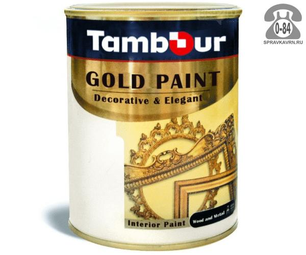 Краска декоративная Тамбур Декор золото 0.75 л