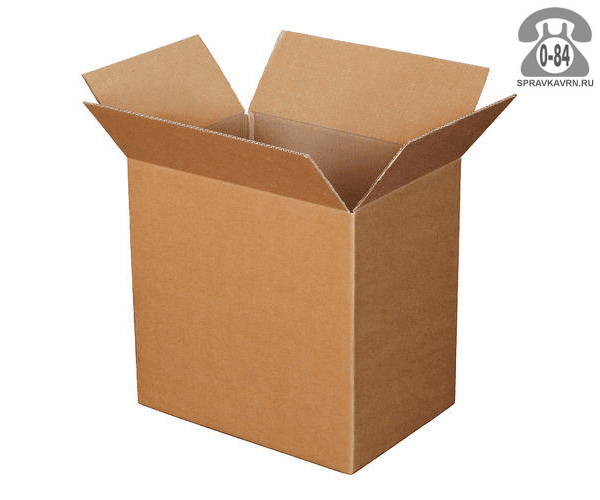 Коробка упаковочная Симплпак картон гофрированный (гофрокартон, гофрокороб) для переезда