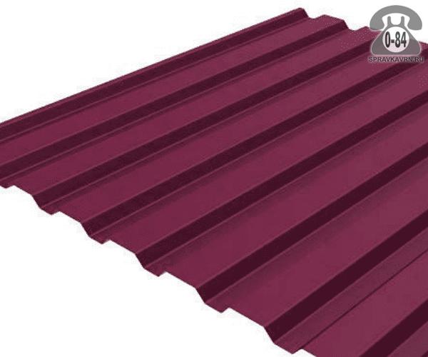 Профнастил МП20 винно-красный  1100x0.4 мм полимерное