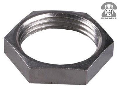 Контргайка сталь никелированная 15 мм