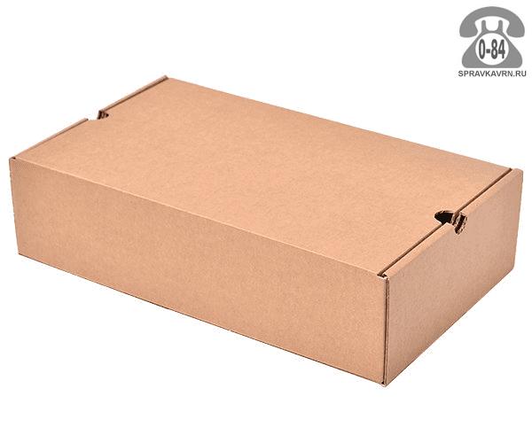 Коробка упаковочная Вотан-тара картон гофрированный (гофрокартон, гофрокороб) обувная