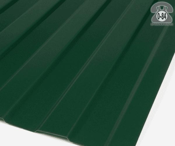 Профнастил С8 зелёный мох  1200x0.5 мм полиэстер