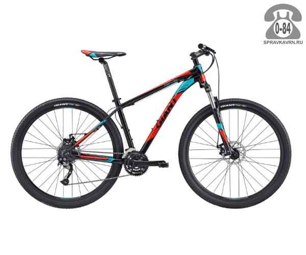 """Велосипед Джайнт (Giant) Revel 29er 2 (2017), рама 20.5"""" размер рамы 20.5"""" черный"""