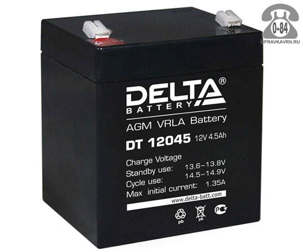 Аккумулятор для источника бесперебойного питания Дельта (Delta) DT 12045 AGM