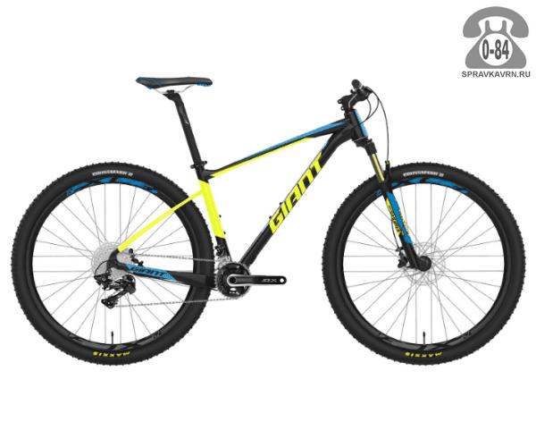"Велосипед Джайнт (Giant) Fathom 29er 1 LTD (2017), рама 18.5"" размер рамы 18.5"" черный"