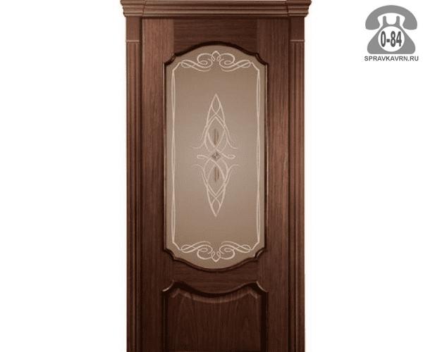 Межкомнатная деревянная дверь Левша, фабрика Верона остеклённая 60 см шоколад