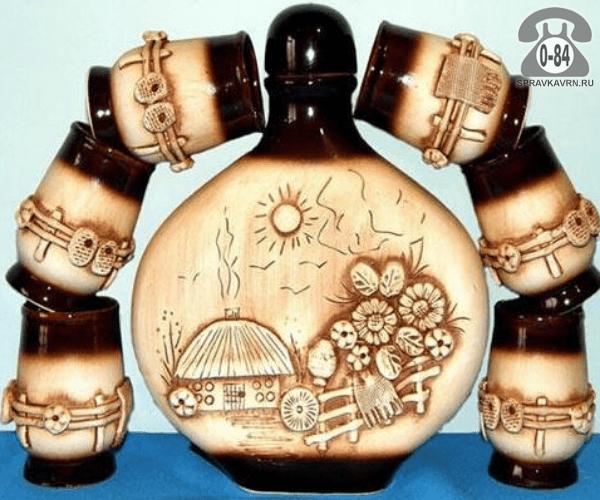 Набор посуды Славянская керамика стекло для вина Россия