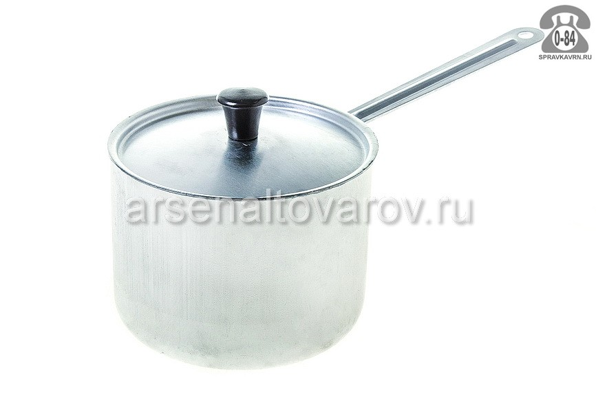 кастрюля алюминиевая 1 л с металлической ручкой (МТ-064) (Демидовский)