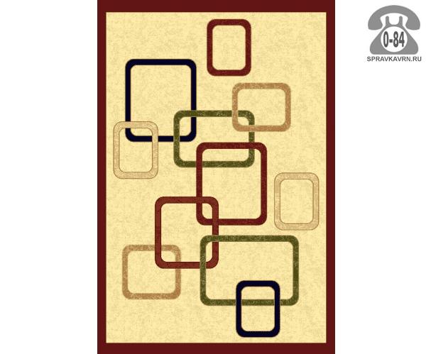 Ковёр УргГазКарпет 2185 KEMIK/BORDO прямоугольник 4x2 м