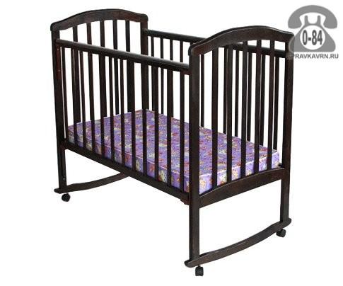 Кроватка Лескоммебель Лиза 4, качалка (полозья)