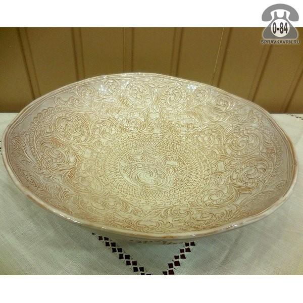 Блюдо керамическое круглое